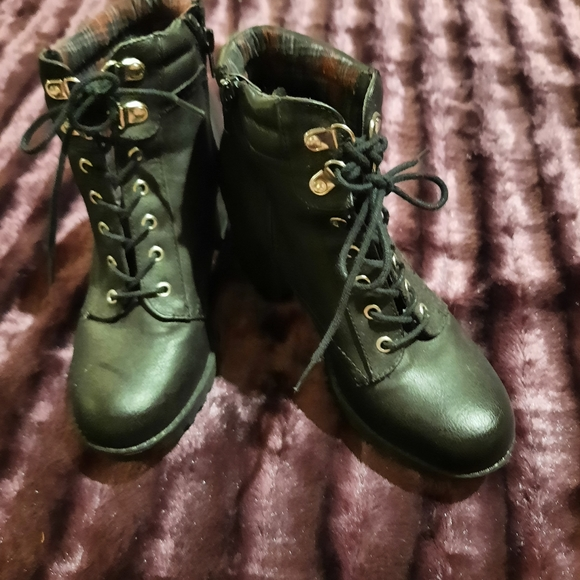 Call It Spring Lace Up/Zipper Boots